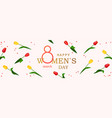 8 march happy womens day horizontal banner vector image vector image