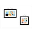abstract paintings hang on wall art vector image vector image