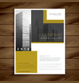 annual report brochure template for your company vector image vector image