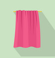 baby towel icon flat style vector image vector image