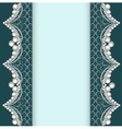 background with lace ornamented with pearls vector image vector image