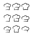 black chef hat set vector image vector image