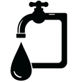 black isolated icon faucet vector image vector image