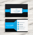 blue black business card vector image vector image