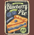 blueberry pie poster design made for bakeries vector image