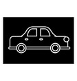 car auto retro icon sign o vector image