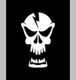 caution high voltage skull sign vector image vector image