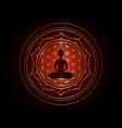 chakra concept yantra mandala buddha silhouette vector image vector image