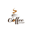 coffee shop logo sign symbol icon vector image