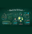 collection education items vector image vector image