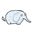comic cartoon sad little elephant vector image vector image