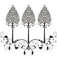 design element flourishes tree vintage 2 vector image vector image