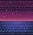 digital blue and purple background vector image