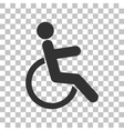 Disabled sign Dark gray icon on vector image