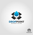 drop point - water box logo template vector image