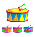drum children toy rhythm symbol music vector image
