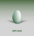 Easter card with green egg and shadows vector image vector image