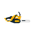 electric chainsaw side view power tools for home vector image