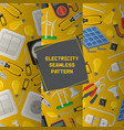electricity seamless pattern power vector image vector image