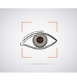 Eye identification vector image vector image