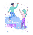 faceless male and female dance confetti background vector image