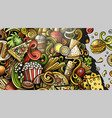 fastfood hand drawn doodles fast food banner