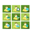 Flat Icon Design People vector image vector image