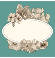 Frame with vintage flowers vector image vector image