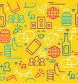 fun social party outline icon seamless pattern vector image