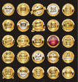 golden retro sale badges and labels collection 2