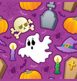 halloween seamless background 3 vector image