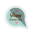 happy valentines day card bubble hearts shadow vector image