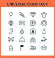 holiday icons set with mug diamond snowflakes vector image