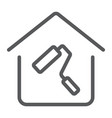 home repair line icon real estate and home vector image vector image