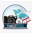 icon set travel vacations trip vector image vector image