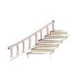 icon stairs vector image vector image