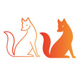 isolated orange fox icon creative logo concept vector image