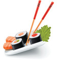 japanese sushi vector image vector image