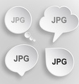 Jpg White flat buttons on gray background vector image vector image