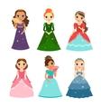 Little girls princess vector image