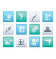 mafia and organized criminality activity icons vector image vector image