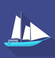 masted schooner ship icon flat style vector image