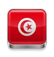Metal icon of Tunisia vector image