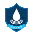 natural water vector image vector image