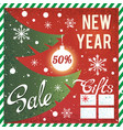 new year and christmas sale promotional banner vector image