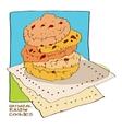 oatmeal raisin cookies vector image vector image