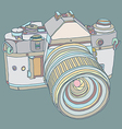 Old dslr camera vector image vector image