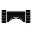 old stone bridge icon simple style vector image vector image