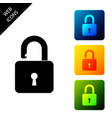 open padlock icon isolated opened lock sign vector image
