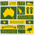 paper australia day yellow and green vector image vector image